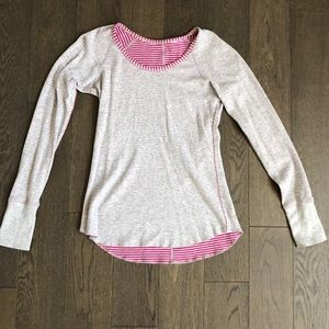 Lululemon Reversible long sleeve tee